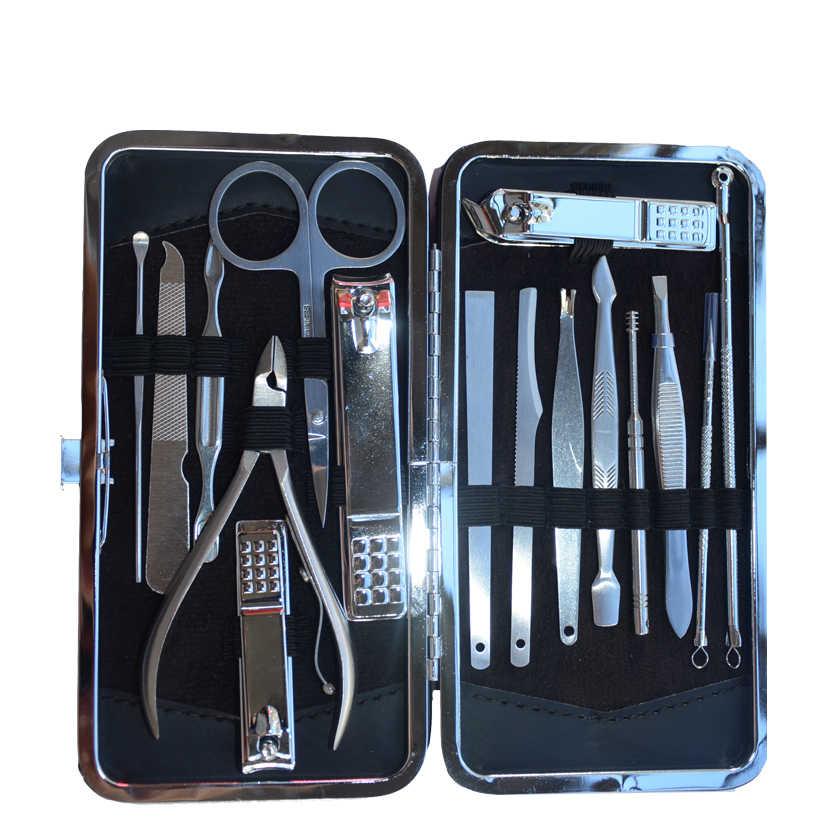 16 stks wenkbrauw schaar Nail Art Manicure Gereedschap Set Nagels Clipper Schaar Tweezer Knife Manicure Nail Grooming Cosmetische Gereedschap