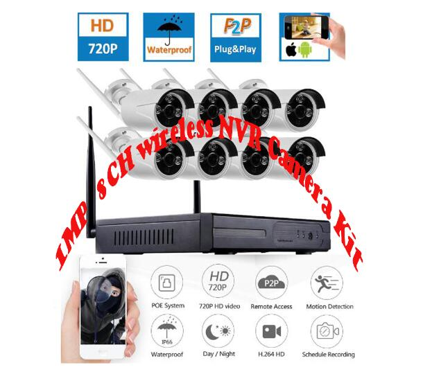 720P  8ch P2P  Wireless  NVR  kit  for home  security plug and  play  IR  Vision 1.0MP wifi  cameras system 8ch  wifi nvr kit720P  8ch P2P  Wireless  NVR  kit  for home  security plug and  play  IR  Vision 1.0MP wifi  cameras system 8ch  wifi nvr kit
