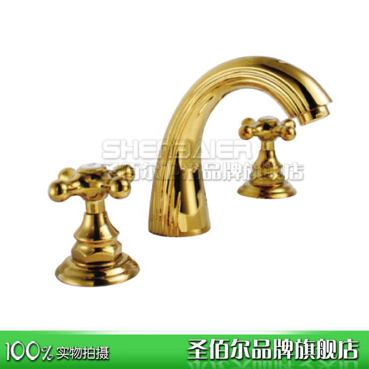 All copper three - basin faucet hot and hot tub faucets