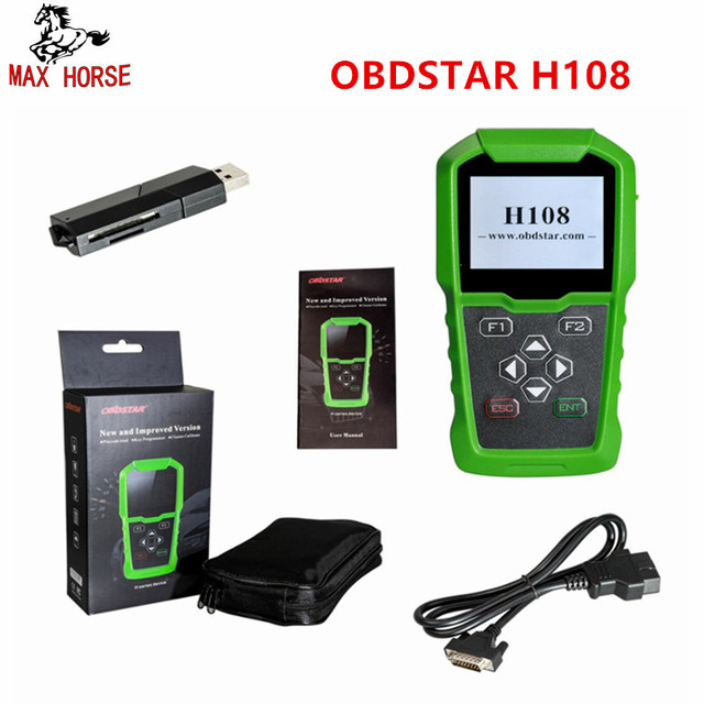 OBDSTAR H108 PSA Programmer Support All Key Lost/Pin Code Reading/Cluster/ Calibrate for PeugeotCitroenDS Supports Can & K-line