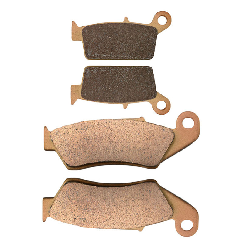 Motorcycle Front and Rear Brake Pads for KAWASAKI KX 250 N1/ N2 (KX250 F) 2004-2005 Sintered Brake Pad motorcycle front and rear brake pads for yamaha fzr 400 fzr400 3en1 1988 brake disc pad