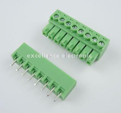 ФОТО 50 Pcs 3.81mm Pitch 8 Pin Straight Screw Pluggable Terminal Block Plug Connector 15EDG