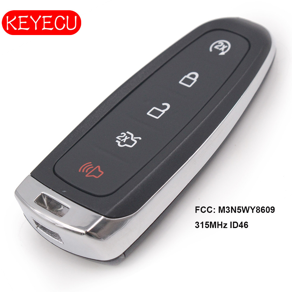 Keyecu Smart Remote Start Smart Prox Key 5 ButtonTransmitter for Ford Edge Escape Expedition C max