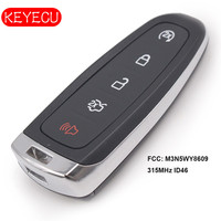 Keyecu Smart Remote Start Smart Prox Key 5 ButtonTransmitter for Ford Edge Escape Expedition C max Taurus Flex Focus M3N5WY8609