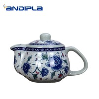 260ml/500ml Handle Teapot Jingdezhen Blue and White Porcelain Vintage Pot / Tea Ceremony Drinkware Coffee Milk Kettles Decor