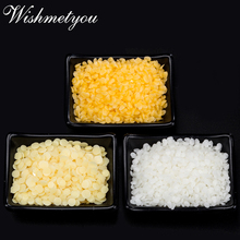WISHMETYOU 50g 100% Pure Natural Beeswax Candles Soap Making Supplies White & Yellow Bee Wax No Added Soy Lipstick Cosmetics DIY