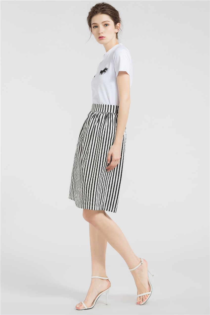 HTB1v4C4RXXXXXcfXpXXq6xXFXXX5 - Long Skirts Women Loose Striped Skirt  JKP008