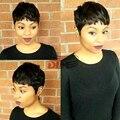 Женская Мода Короткие Волосы Короткие Прямые Черные Волосы для Черных Женщин 2 ШТ. Естественный Бразильский Человеческих Волос Новое Прибытие 28 ШТ.