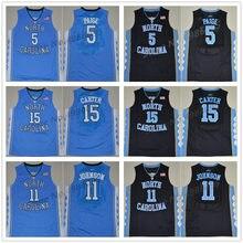 a9a5ceab1e8b 5 Marcus Paige 11 Brice Johnson 15 Vince Carter 40 Harrison Barnes North  Carolina Tar Heels College Basketball Jerseys Mens