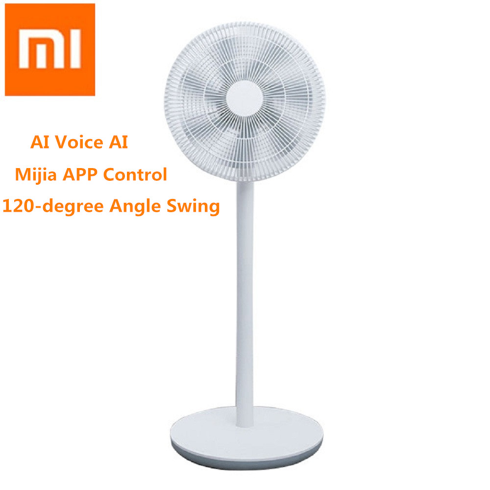 Xiaomi Mijia Floor Fan DC Frequency Conversion APP Control Remote Floor Fan Air Conditioner Natural Wind Fan with 7 Fan Blades new dv5214 2na 24v 22w 13cm 12738 aluminum frame fan frequency conversion fan for papst 127 127 38mm