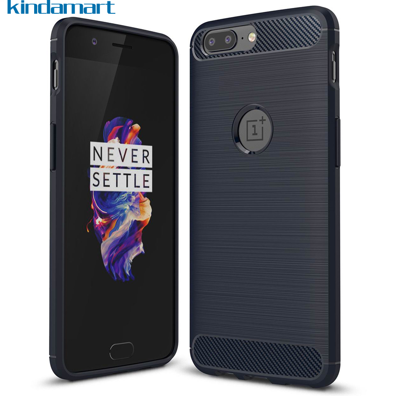 Oneplus 5 Case Cover Silicone Carbon Fibre Brushed Shockproof Phone Case Oneplus 5 Soft Rubber Case Oneplus-5