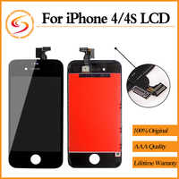 AAA+++ For iPhone 4 4S LCD With Touch Screen Digitizer Assembly 100% Brand New Display Replacement Free Shipping