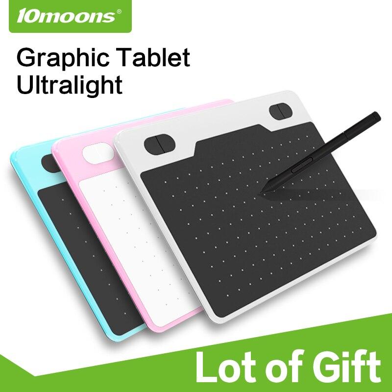 10 Moons 6 Zoll Ultraleicht Grafik Tablet 8192 Ebenen Digitale Zeichnung Tablet Batterie-freies Stift Kompatibel Android Gerät Mit Geschenk Ungleiche Leistung