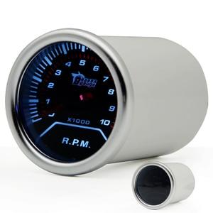 """2 """"52 мм Универсальный Тахометр Автомобильный датчик 0-10000 об/мин метр Авто белый светодиод"""