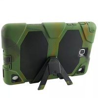 Shockproof Protector Sillcone Rubber PC Armor Case Stand Cover For Samsung Galaxy Tab A T550 9