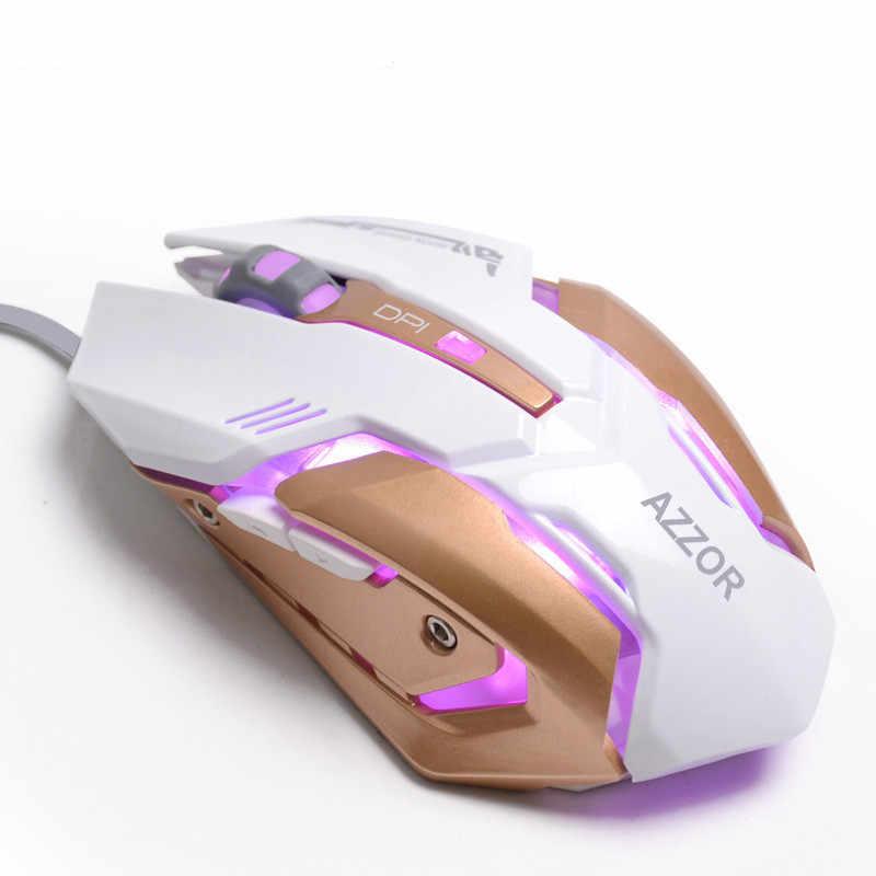 Проводной USB макро-определение обработки профессиональных киберспортсменов игровой Мышь в 4-х цветах дыхание точное позиционирование для настольных ПК
