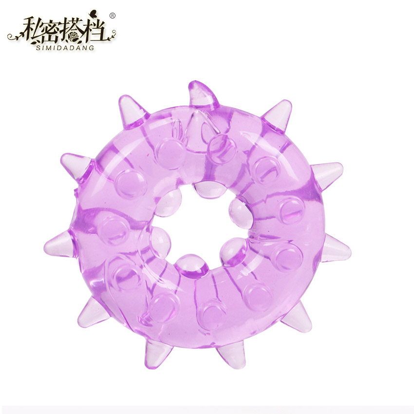1PC Silicone Time Delay Penis Ring Cock Rings Adult Products Male Sex Toys Crystal Ring Color Random