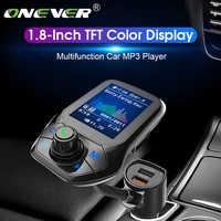 Onever Bluetooth 5.0 FM transmetteur Voiture modulateur Voiture MP3 lecteur Radio récepteur Double USB chargeur QC3.0 musique sans perte nouveau