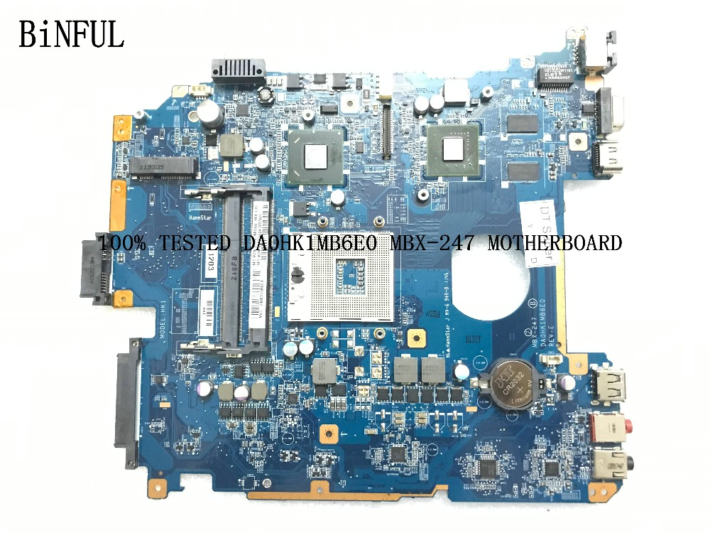 BiNFUL AVAILABLE 100 NEW A1827700A DA0HK1MB6E0 MBX 247 FOR SONY VPCEH SERIES MBX 247 LAPTOP MOTHERBOARD
