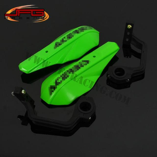 Handle bar Brush Bar Hand Guards Handguard Protector Protection Plastic 22mm 28mm Green Racing Dirt Bike Street Bike Motorcycle