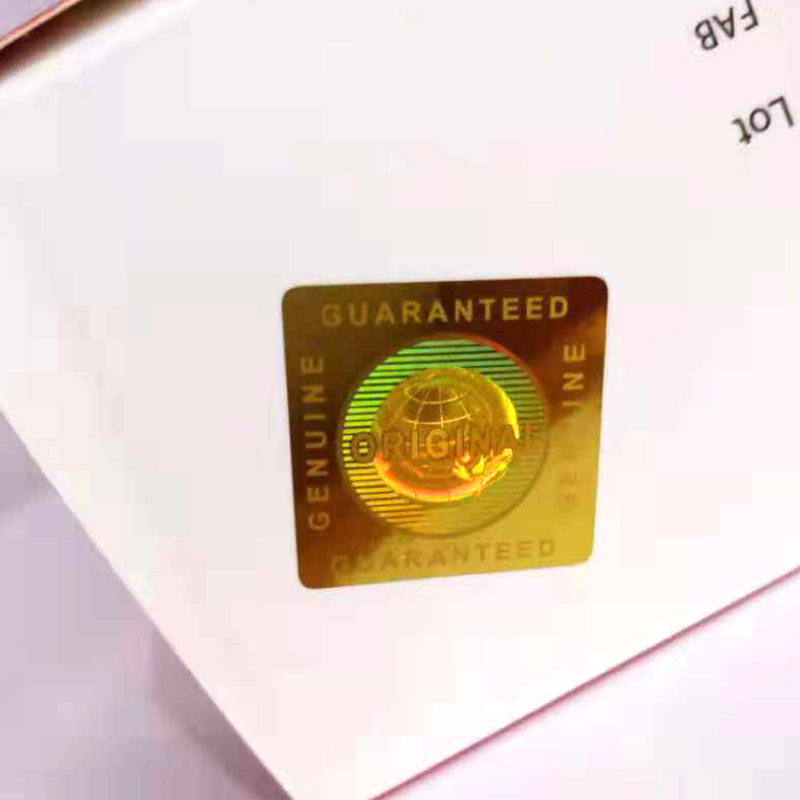 VOID Golden Genuine Guaranteed and Original Global Hologram sticker in 20x20mm in square-in Stationery Stickers from Office & School Supplies