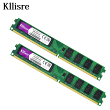 Kllisre 4GB(2pcsX2GB) DDR2 2GB Ram 800Mhz PC2-6400U 240Pin 1.8V CL6 Desktop Memory(China)
