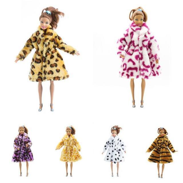 7 kolory Wysokiej Jakości Ręcznie Robione Ubrania Sukienki Rośnie Outfit Flanelowe płaszcz dla Lalka Barbie sukienka dla dziewczyn dla dzieci najlepszy prezent - aliexpress
