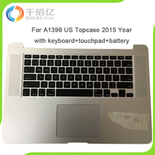 Laptop US Topcase For Macbook Pro Retina 15″ A1398 Topcase with keyboard+touchpad+battery 2015 Year MJLQ2 MJLT2 MJLU2