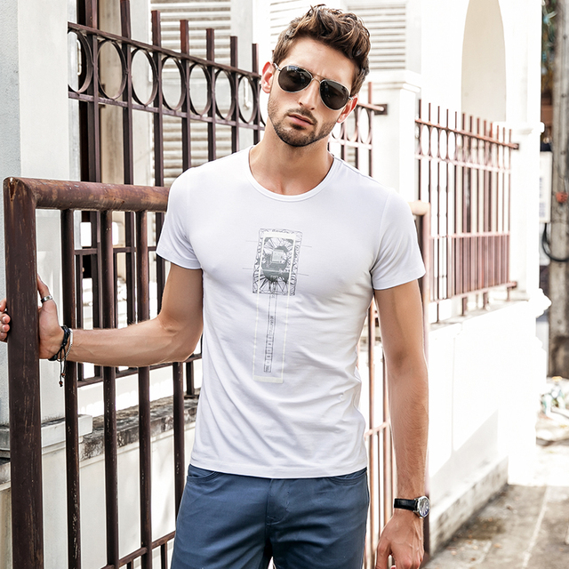 Casual Men's T-shirt with Print
