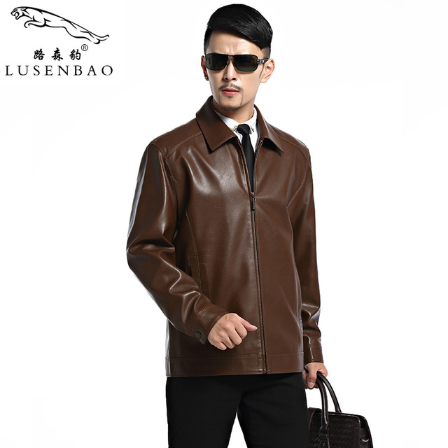 Mens Leather Jackets And Coats Spring New Men's Fashion High-grade Sheep Skin Comfortable Leather Biker Jacket Men Leather Jacke