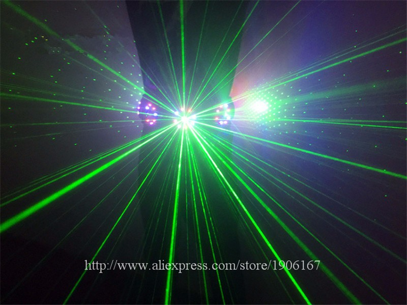 Colorful led green laser belt waistband girdle 11