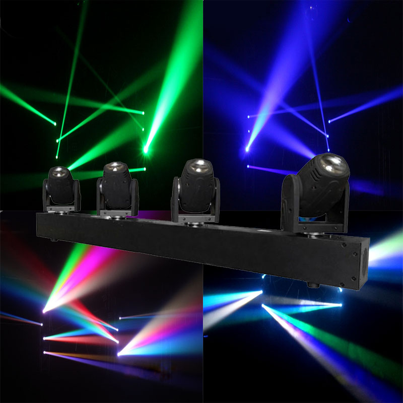 4 Heads Beam Landscape Light 4x10W RGBW Led Moving Head Light DMX Floorlight For DJ Disco Nightclub Party Event Show Stage