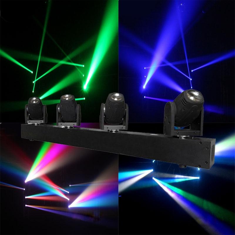 4 Heads Beam Landscape Light 4x10W RGBW Led Moving Head Light DMX Floorlight For DJ Disco Nightclub Party Event Show Stage