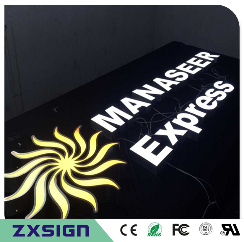 Custom Outdoor Advertising Front Lit Acrylic Custom Logo Signs