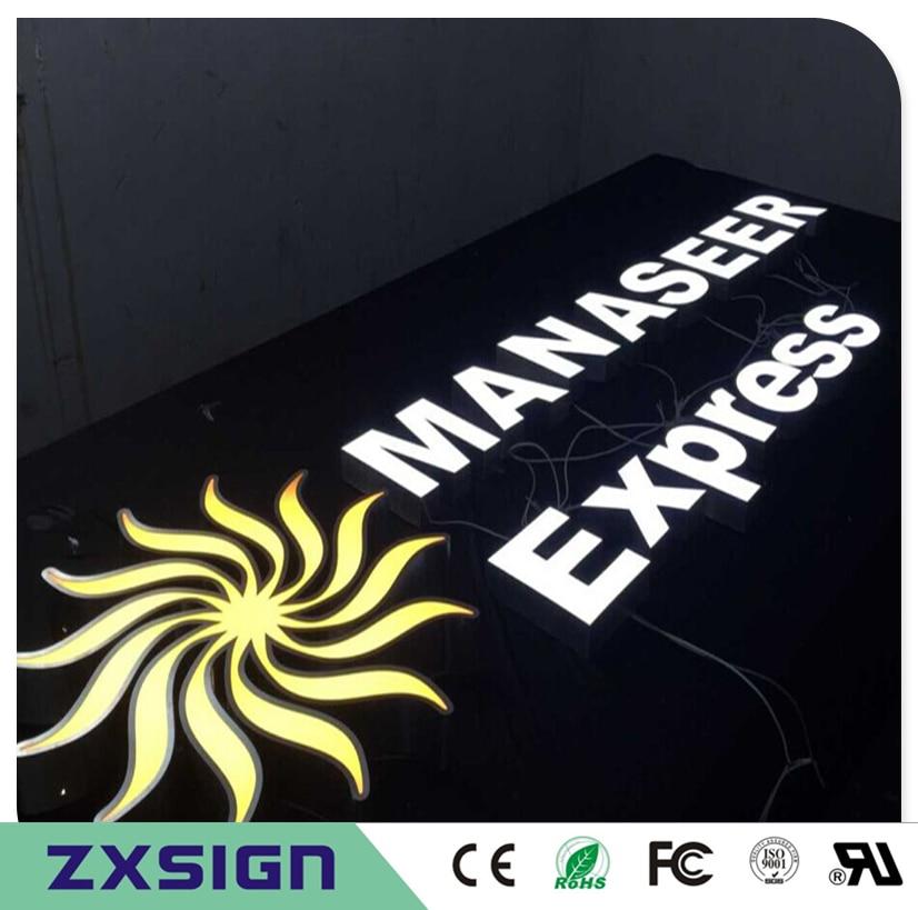 Custom Outdoor Advertising Front Lit Acrylic Custom Logo Signs