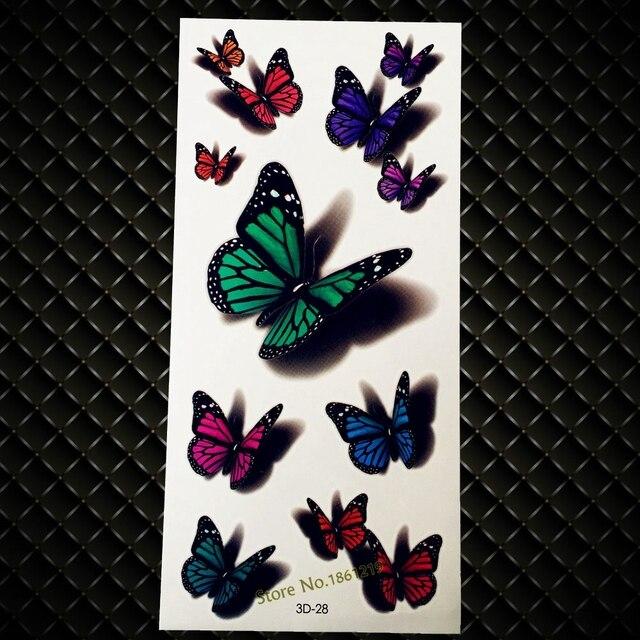 70d27a4fa6efb New Sexy Women Body Art Temporary Tattoo Papillon Sticker 9x19CM Flying  Butterfly Arm Shoulder Leg Waterproof