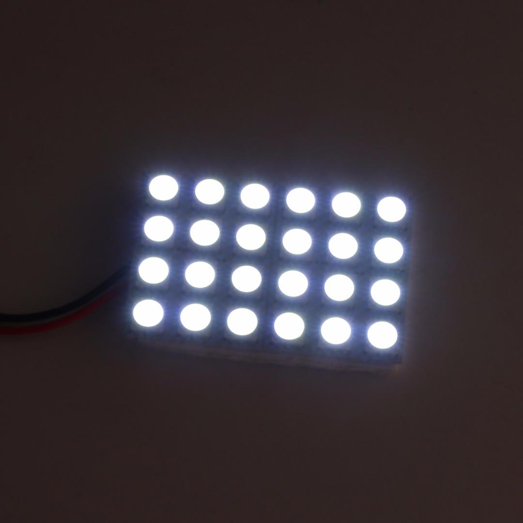 Mayitr 1pc 12V 5050 24LED White Car Interior Dome Reading Panel Light Lamp Reading Side Indicator Door Wedge Lights