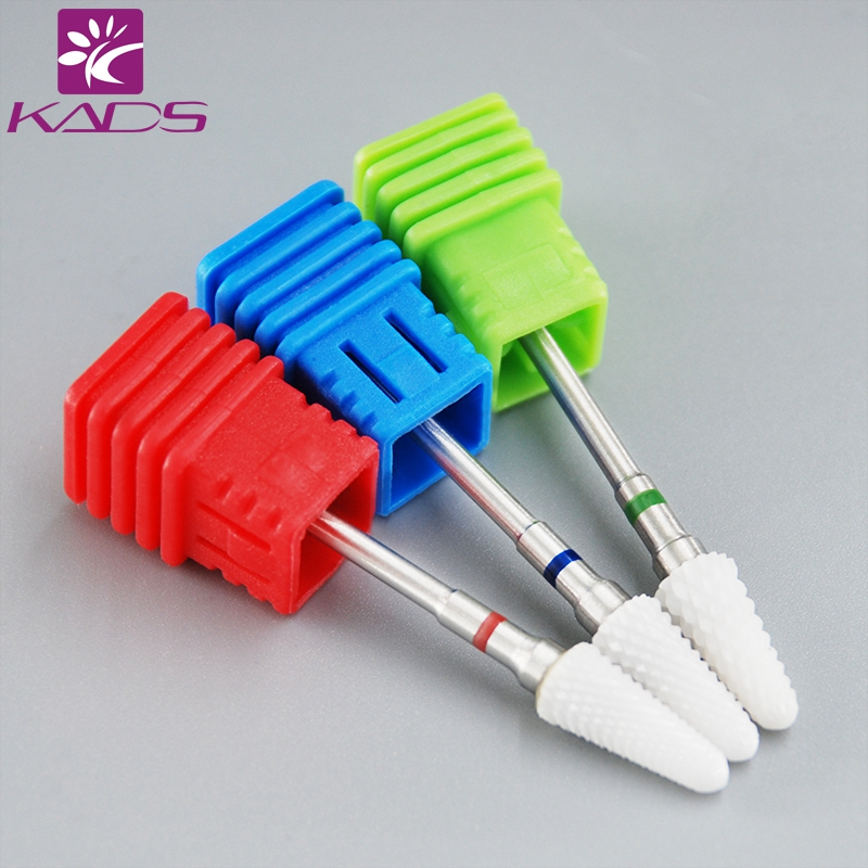 KADS Ceramic Nail Drill Bit Grinding Stone Head For Electric Manicure Machine Accessories Nail Art Tools Electric Manicure new ceramic nail art drill bit umbrella shape nail art grinding stone head for electric manicure drill machine file tool