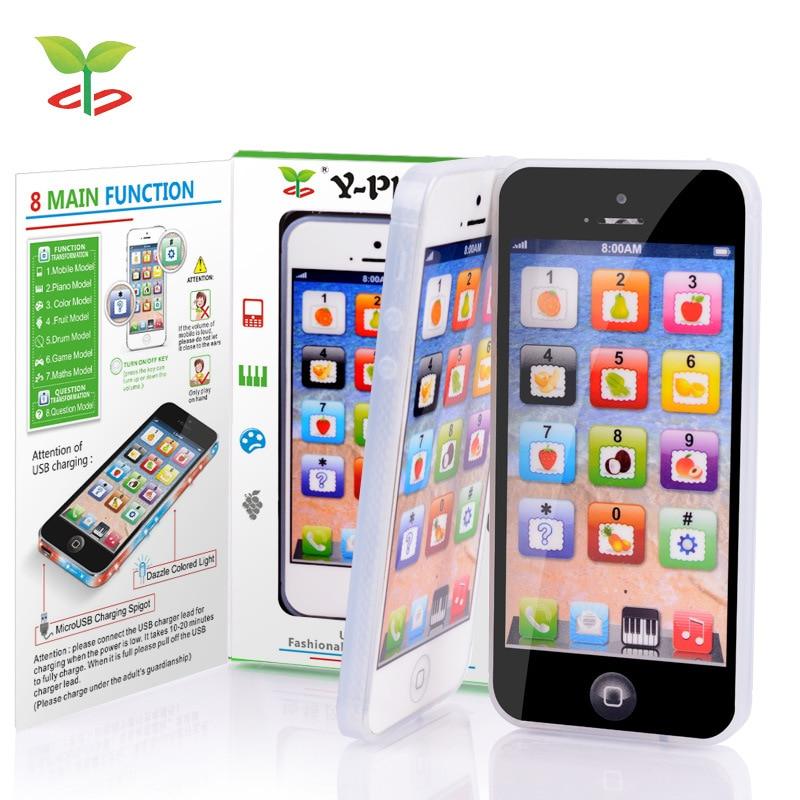 Kid Toy Cellphone con LED Y-phone English Learning Mobile Phone Baby - Educación y entrenamiento - foto 2