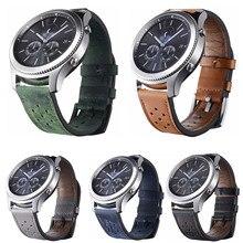 22 мм отверстие ремешок из натуральной кожи для samsung Galaxy Watch 46mm Ременная Передача S3 Frontier классический браслет для huawei часы GT группа