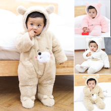Clothes 2018 Thicken Soft Flannel Winter Overalls Baby