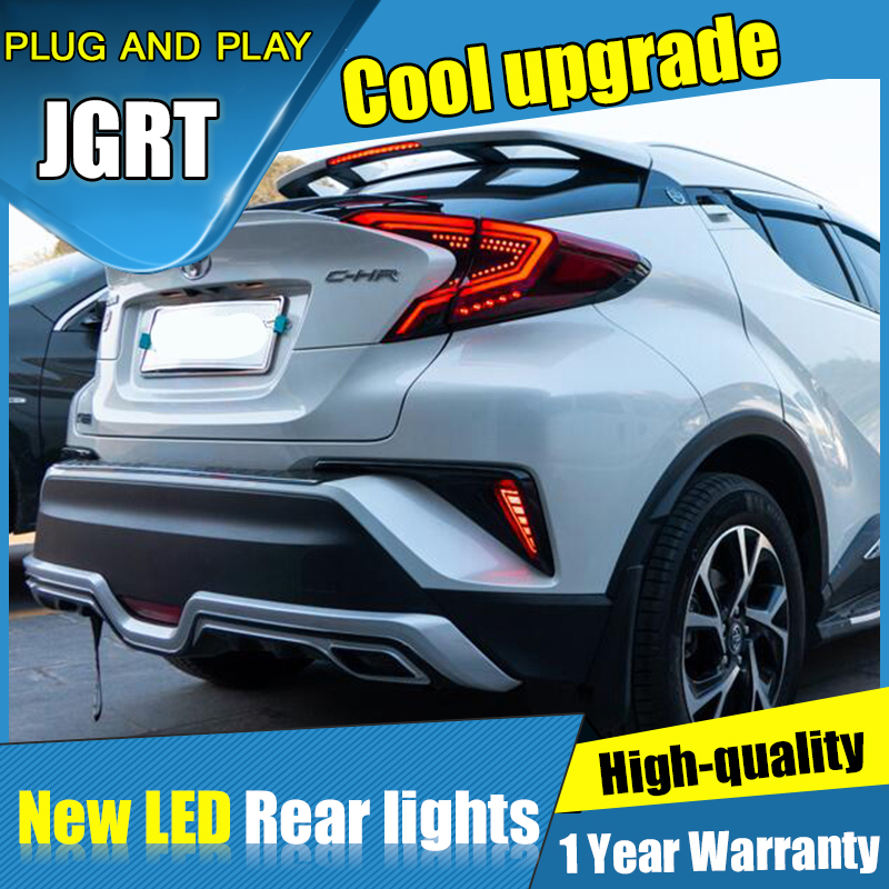 Dynamic turn signal car tail lights For Toyota C-HR Taillights LED DRL Running lights Rear parking lights brake light 2018 2019