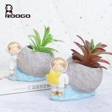 Roogo маленький цветочный горшок Открытый Мини смоляный для