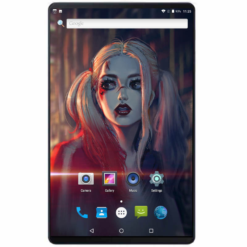 Super 10 Inch Tablets Octa Core 4GB RAM 64GB ROM 6000mAh 2.5D IPS Screen Dual SIM Card Android 8.0 Pad With 64GB SD Card Gift