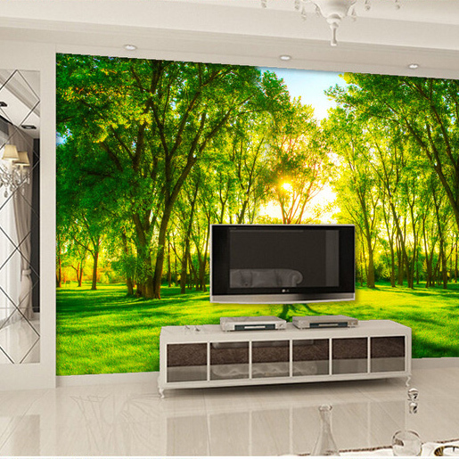papier peint de grandes murale tv canap lit chambre fond mur papier coucher de soleil paysage. Black Bedroom Furniture Sets. Home Design Ideas