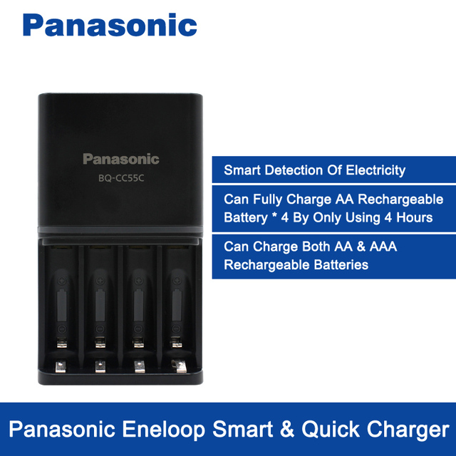Panasonic Smart&Quick Charger + AA*4 High Capacity Rechargeable Battery