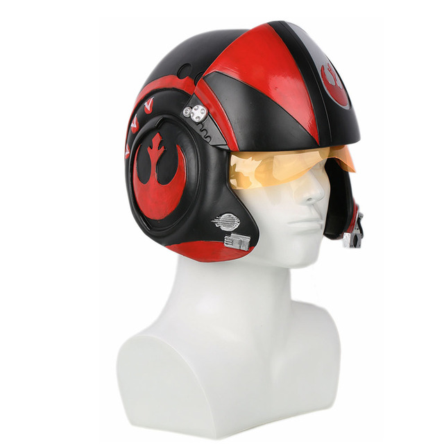 XCOSER Star Wars Poe Dameron Pilot Helmet X-wings Full Head Mask Racing Helmet Movie Cosplay Props Accessories Helmets For Men 1