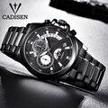 C9016 CADISEN мужские часы Топ люксовый бренд военные спортивные для отдыха водонепроницаемые мужские кварцевые часы из нержавеющей стали