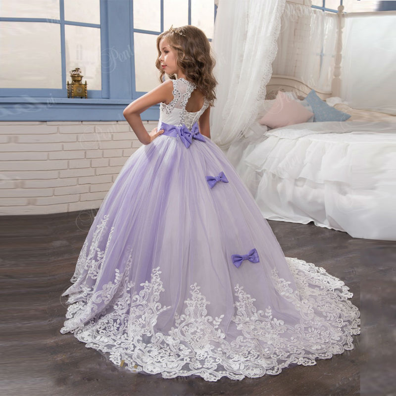 Princess Lilac Little Bride Long Pageant Dress For S Glitz 2017 Puffy Tulle Prom Children Graduation Gown Vestido In Flower Dresses From