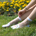 Transparent Crystal Silk Dot Colors Fashion  Princess Anti hook wire Sexy Spring Summer brand new High Quality lace Women Socks
